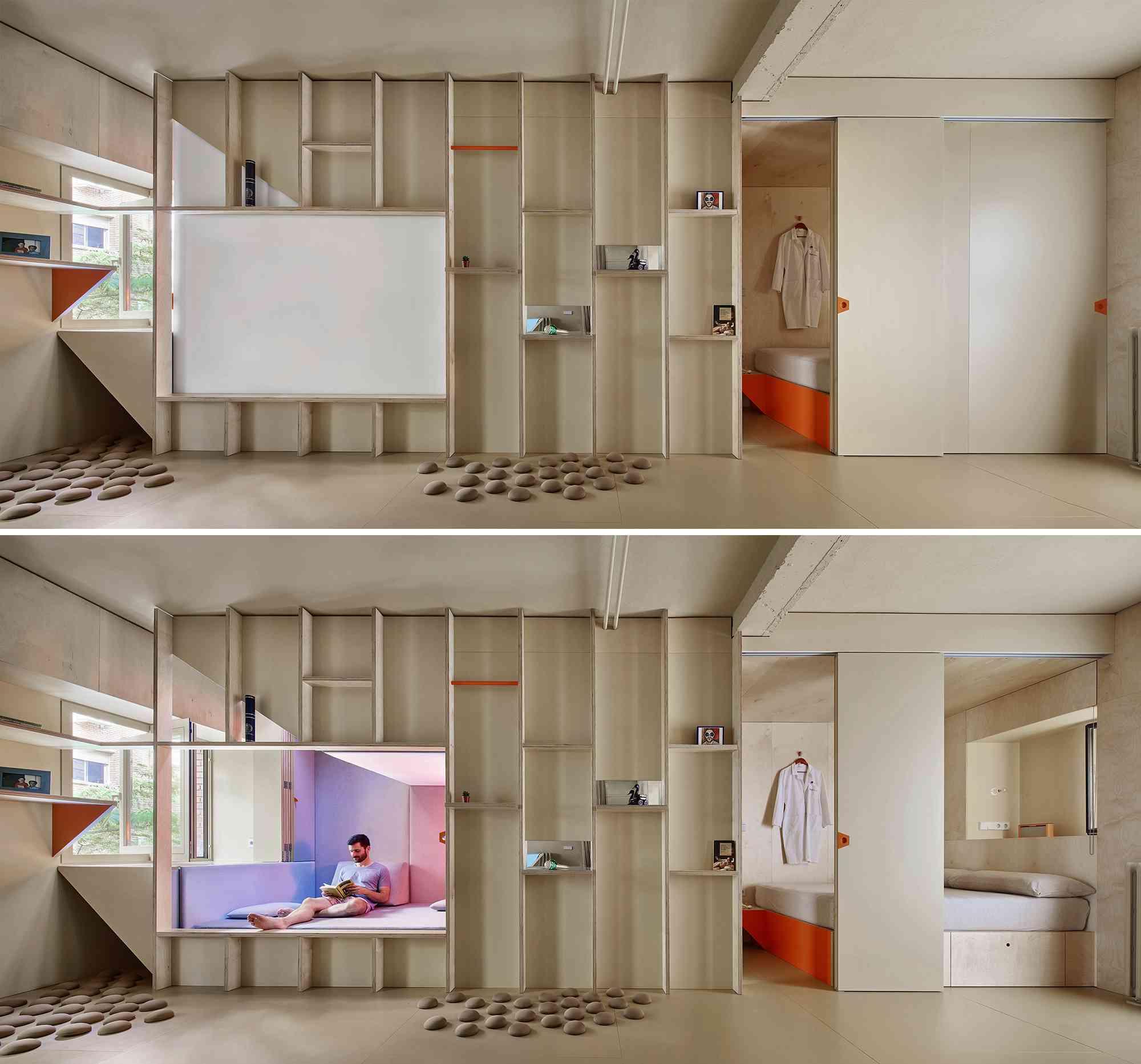 small apartment renovation madrid Husos Architects perimeter zone