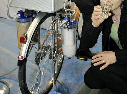 Cycloclean water filter bike