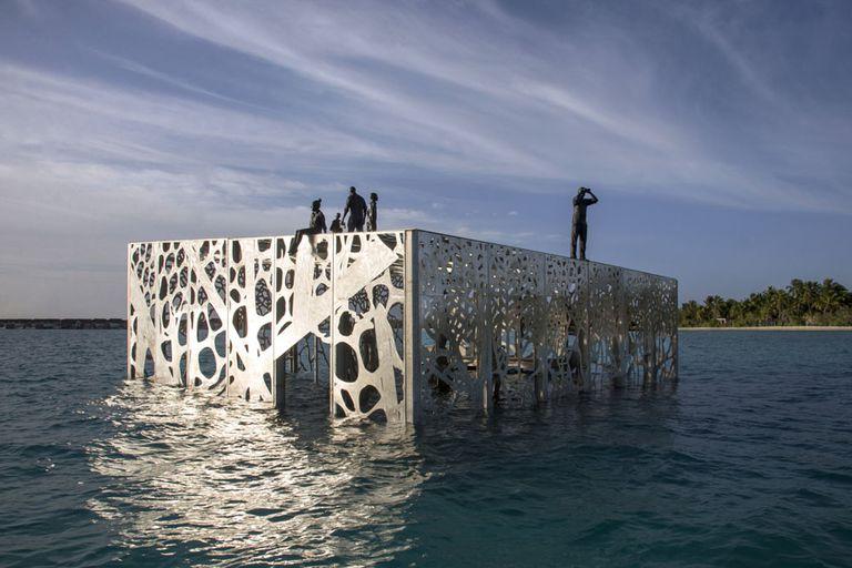 La primera galería de arte semisumergida del mundo será un hábitat de coral (video)
