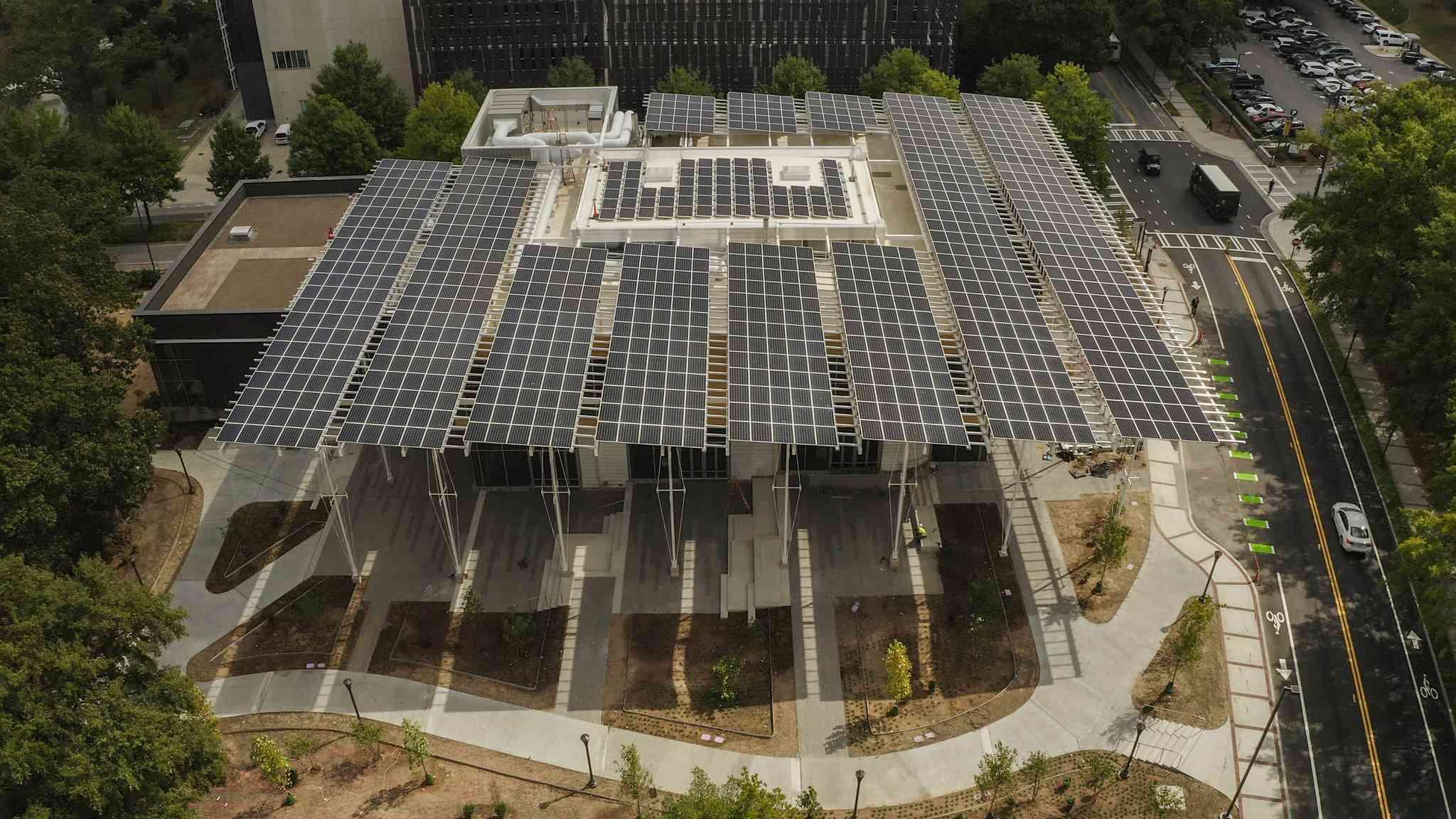 aerial view Kendeda building