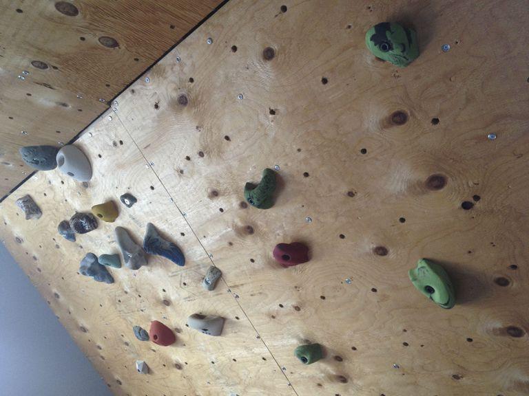 A DIY rock climbing wall