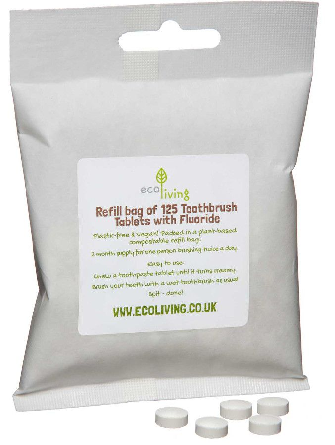 EcoLiving Toothpaste Tablets with Fluoride