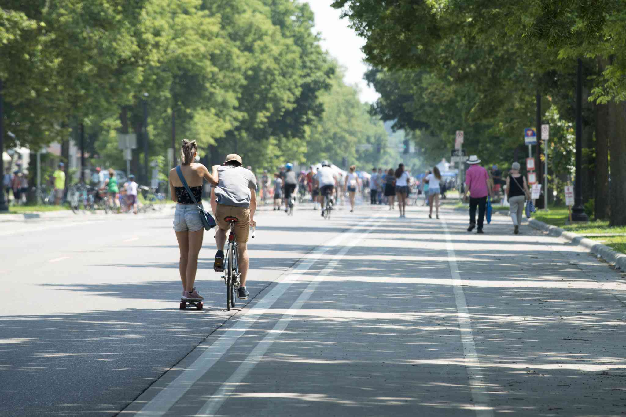 An 'open streets' event in Minneapolis in 2018.