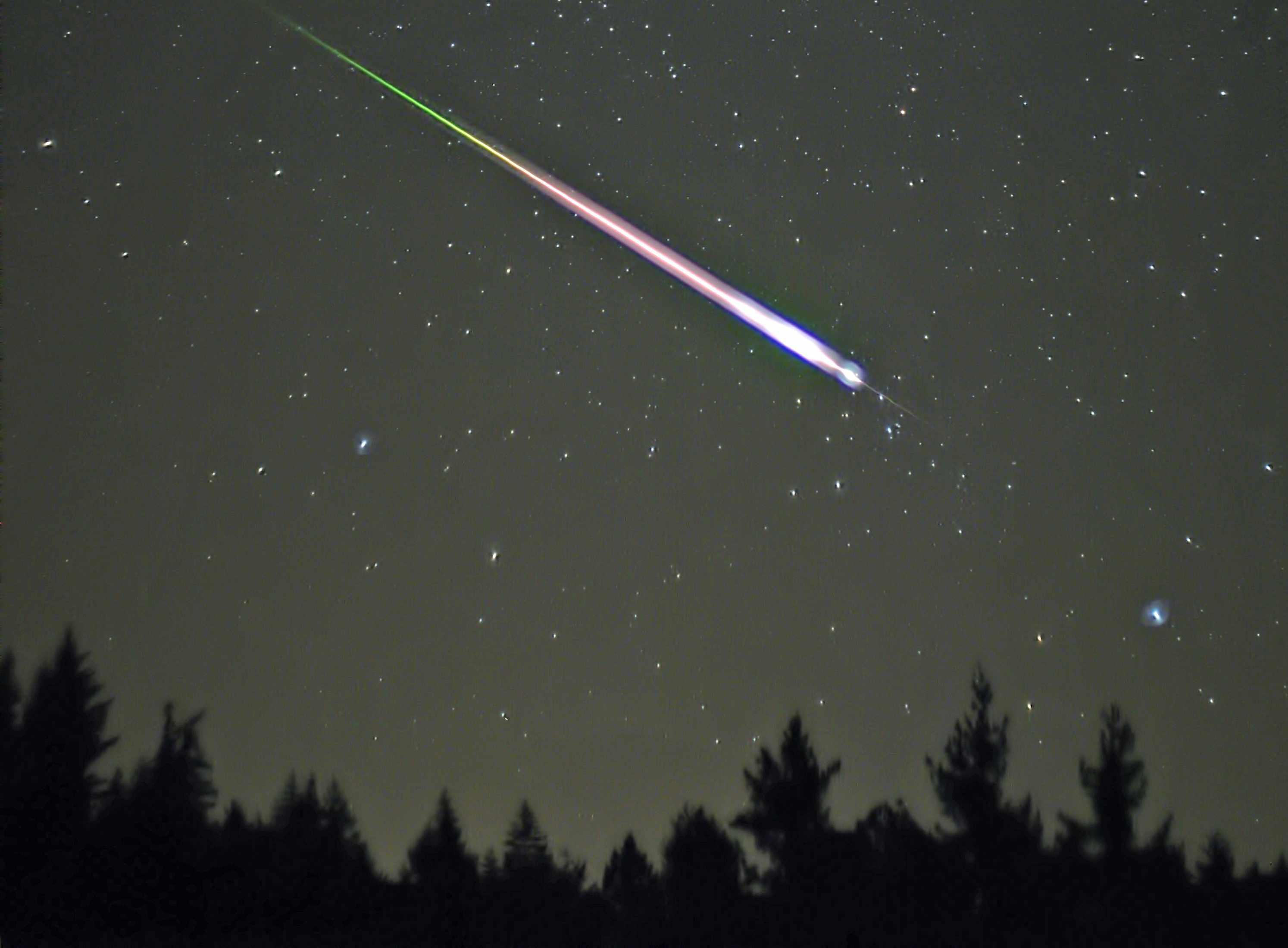peak of 2009 Leonid meteor shower