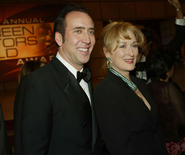 Nicolas Cage and Meryl Streep at SAG Awards in 2003
