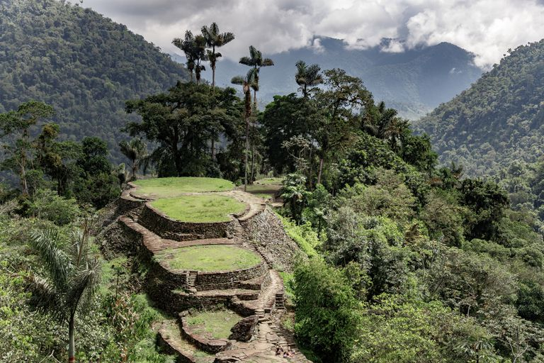 Archaeological site lost in the middle of the Colombian Sierra nevada in Santa Marta.