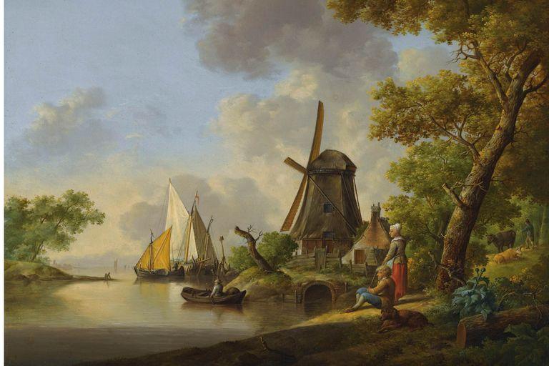 windmills and sailboats