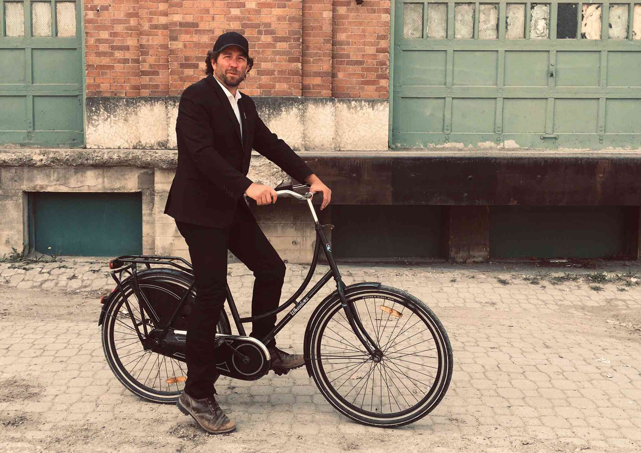 Anders Swanson on a bike