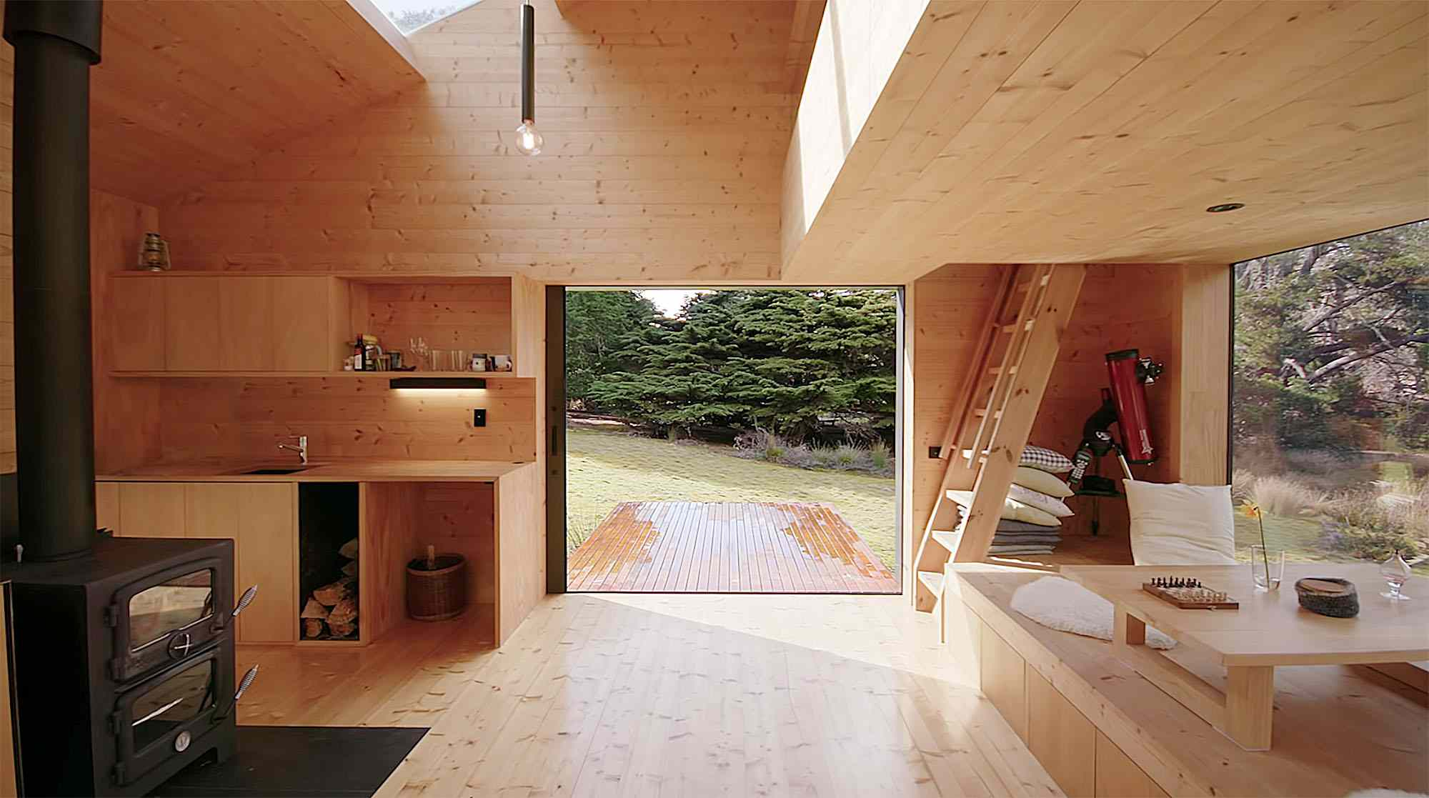 Bruny Island Hideaway by Maguire + Devin view of deck