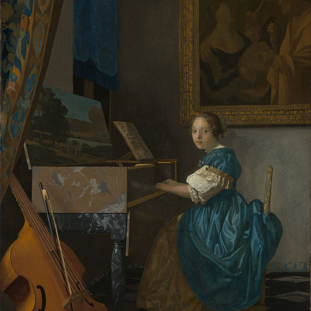 Young Woman Seated at the Virginal, Vermeer painting