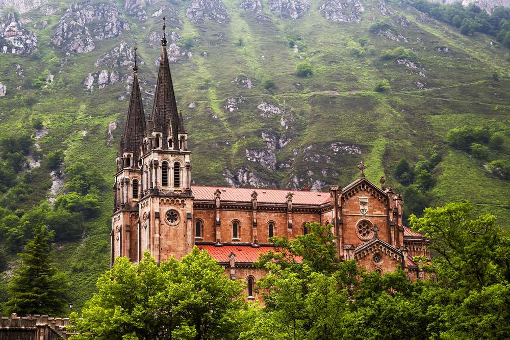 Our Lady of Covadonga Monastery in Asturias, Spain