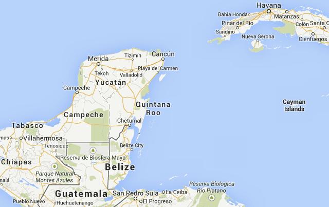 Yucatan, Mexico map