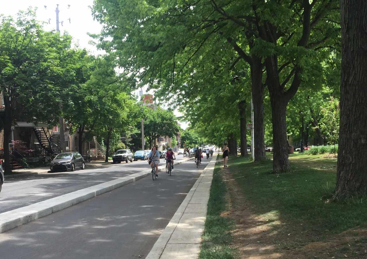 Montreal bike lane