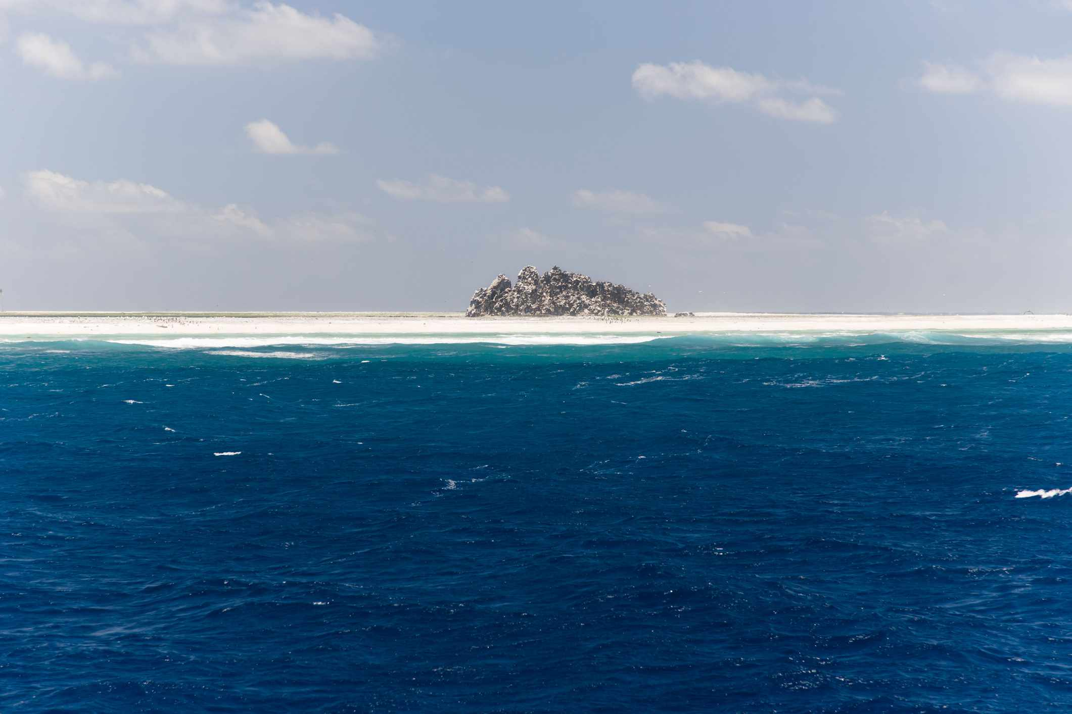 Clipperton Island in the middle of the Pacific Ocean