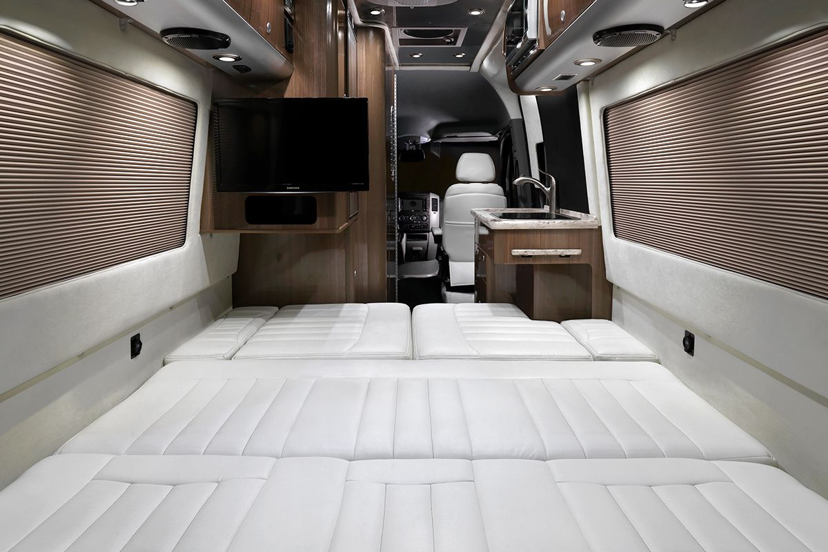 Airstream bed down