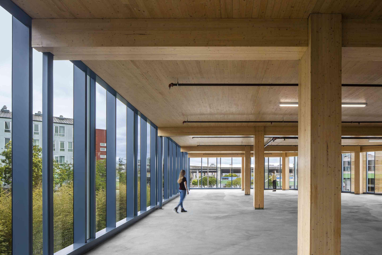 Upper floor wood structure