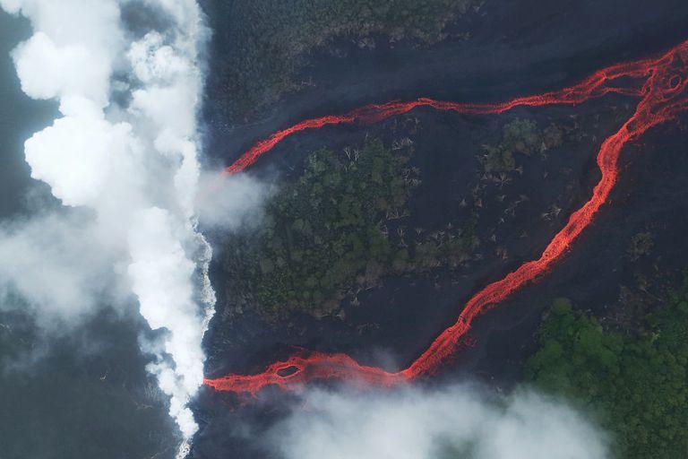25 imágenes y videos surrealistas de la erupción del volcán Kilauea en Hawái