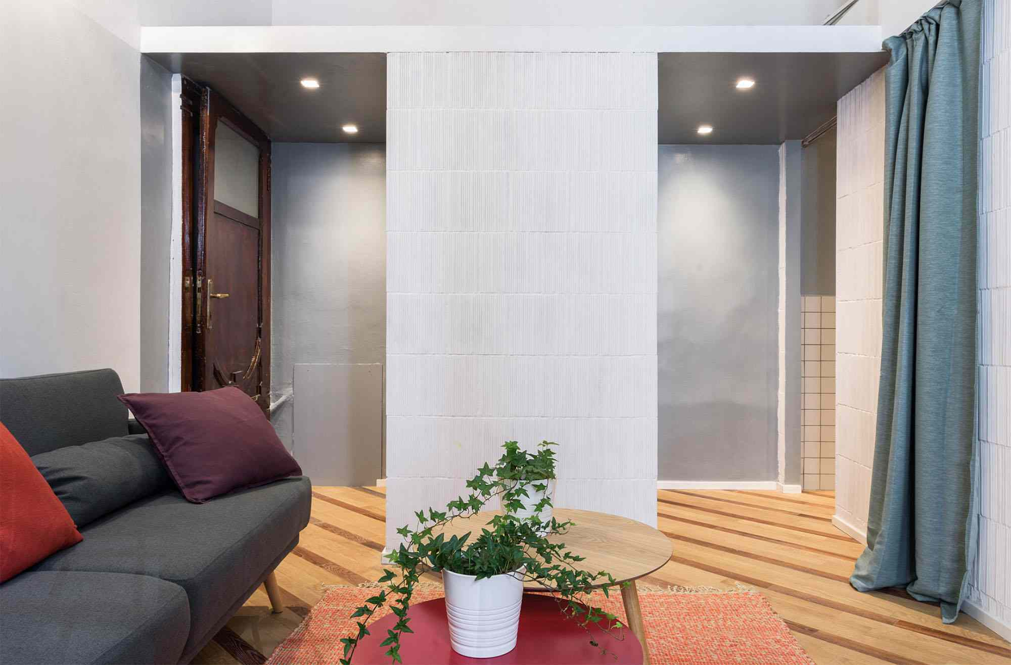 House In Constant Transition small apartment renovation ATOMAA living room