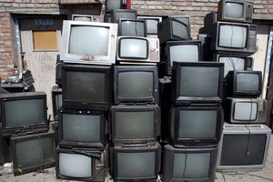 old television sets await recycling in China