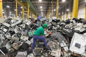 computer recycling facility