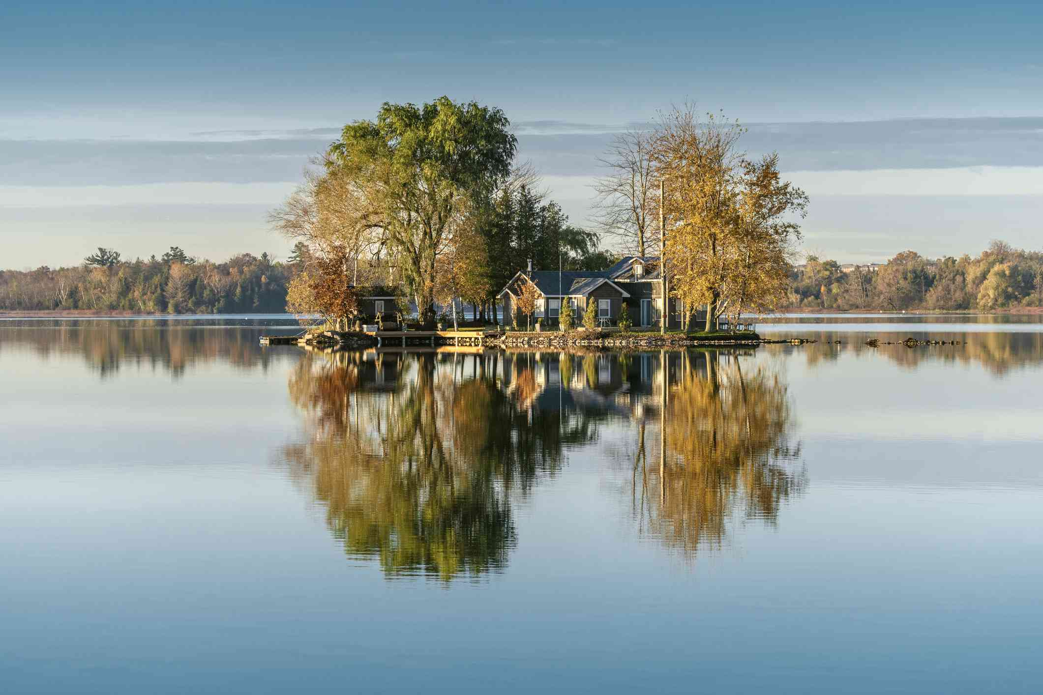 Small island on Puslinch Lake, Ontario