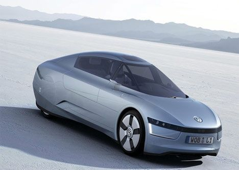 vw 1-liter concept car diesel hybrid photo