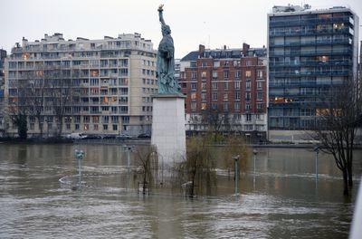 Floods Peak Seine River Levels In Paris