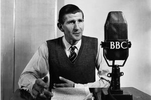 BBC announcer reading quiz answers