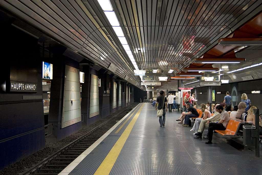 A station on the Bonn Stadtbahn, Germany.