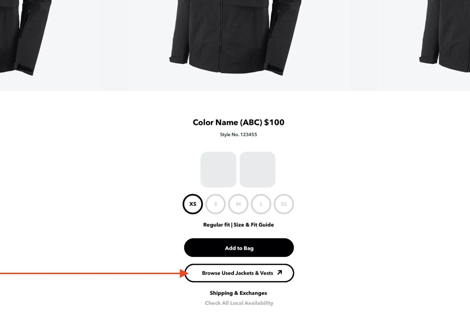 Patagonia Buy Used option