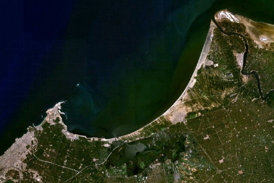 Satellite image of Abu Qir Bay where Heracleion remains are located