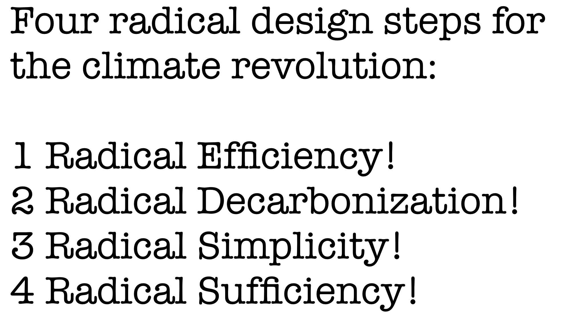 Four steps