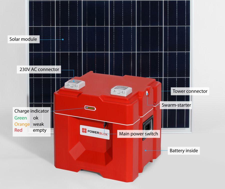 Power-Blox cube solar