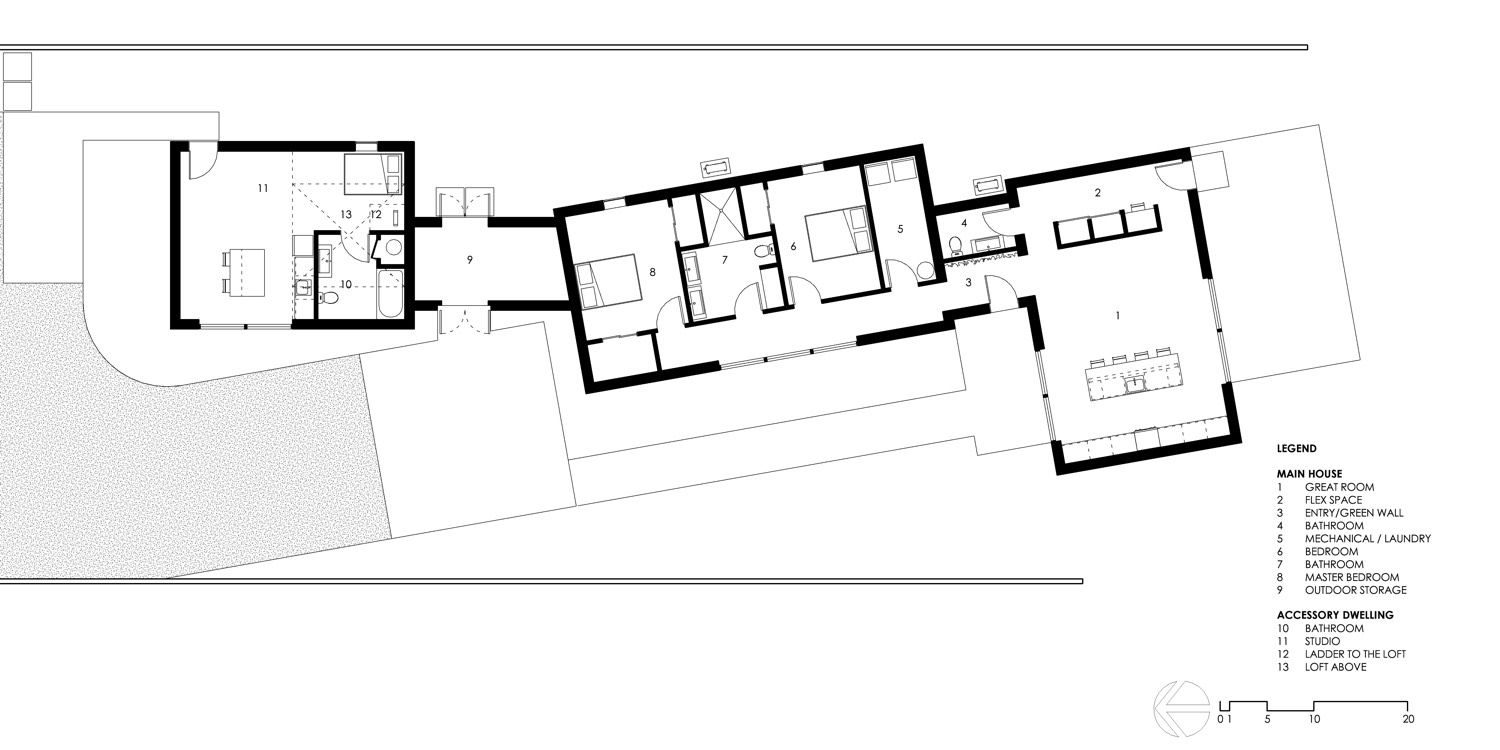 Plan of house