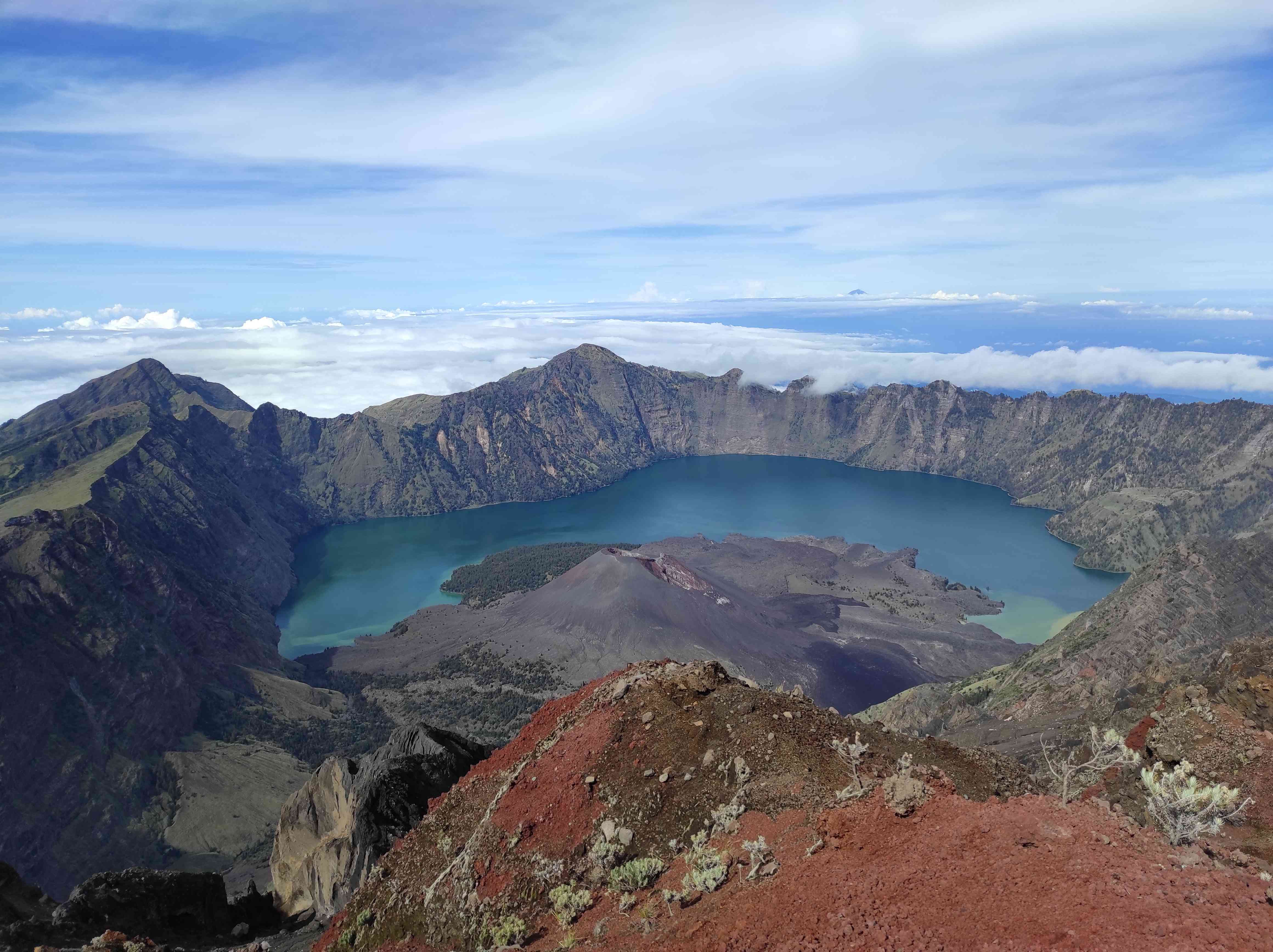 Beatiful View Of Mout Tambora Crater From An Altitude Of 2851