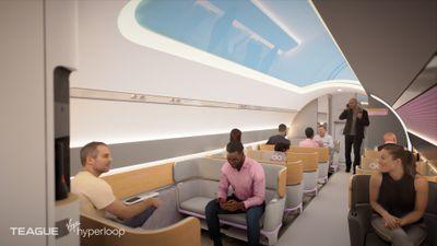 Interior of Virgin Hyperloop Pod