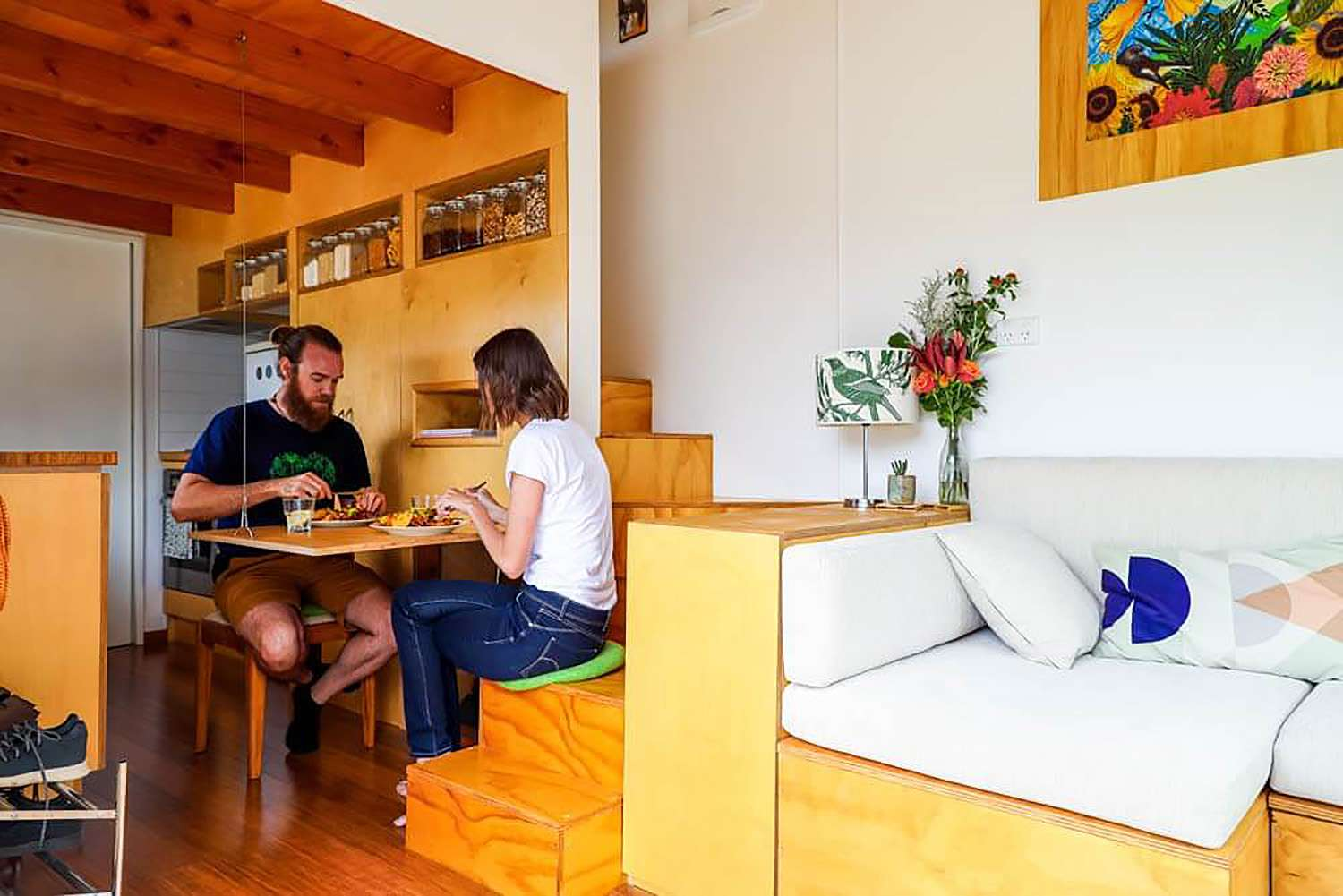 tiny house with movie loft Living Big In A Tiny House fold-up table