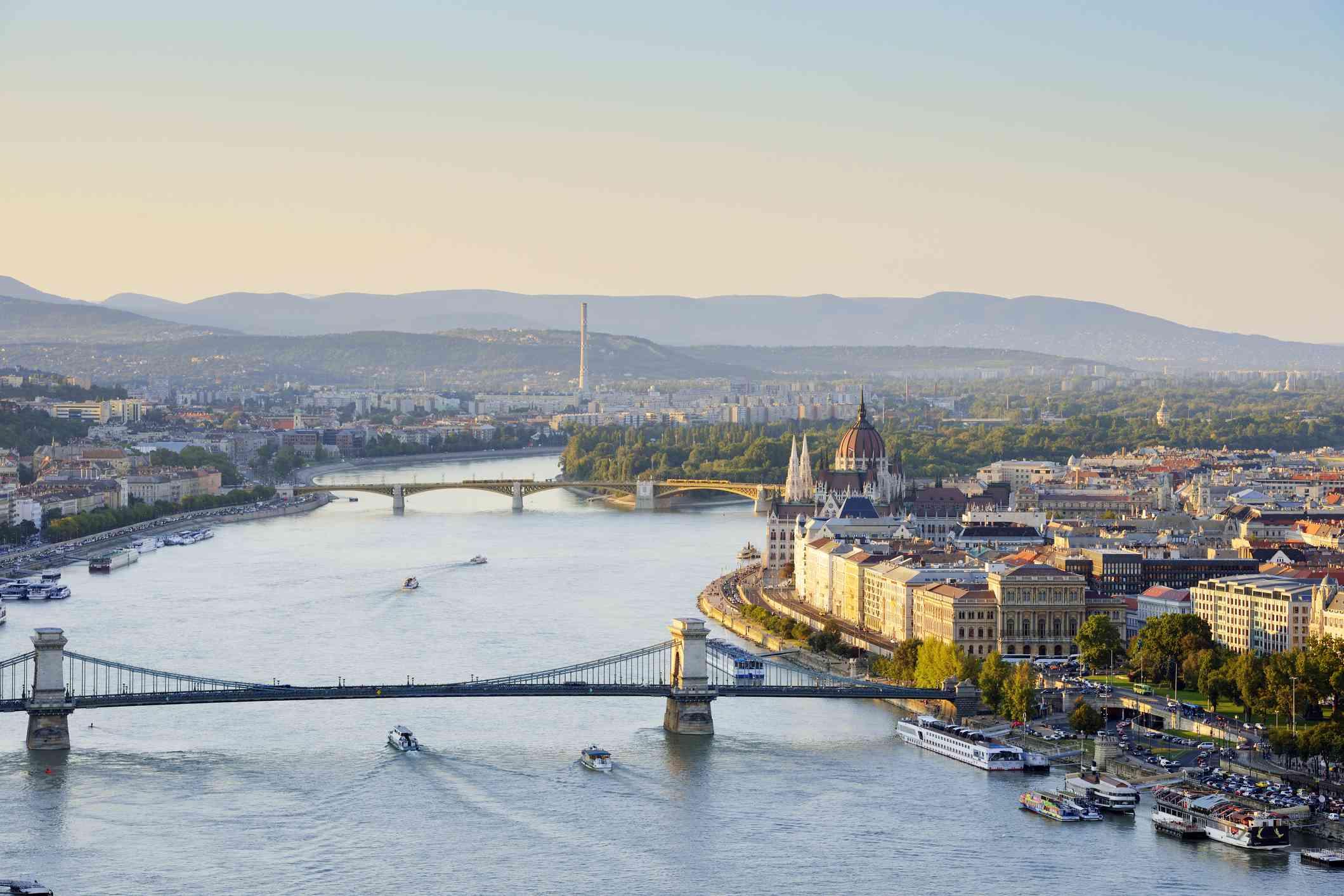 The Danube River in Europe