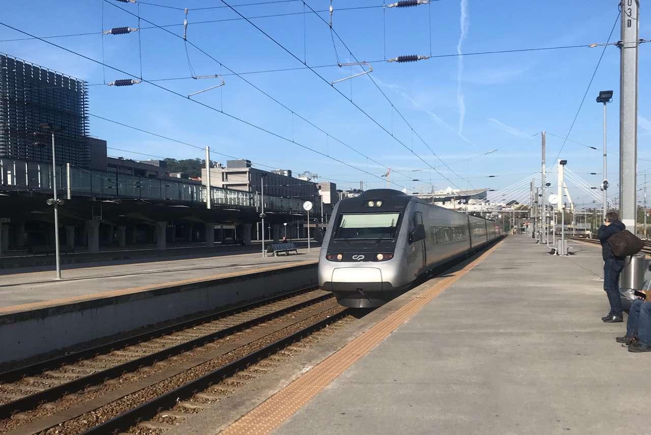 high speed train in Porto