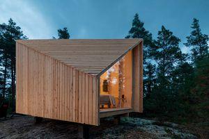 space of mind modular cabin studio puisto exterior