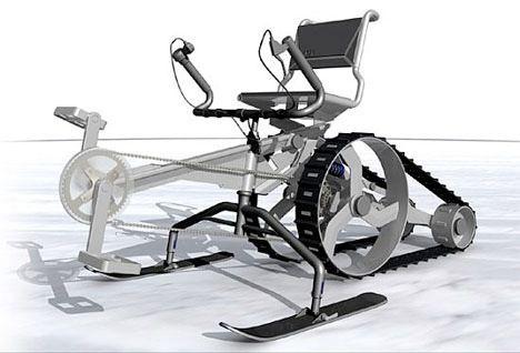 snow machine human powered image