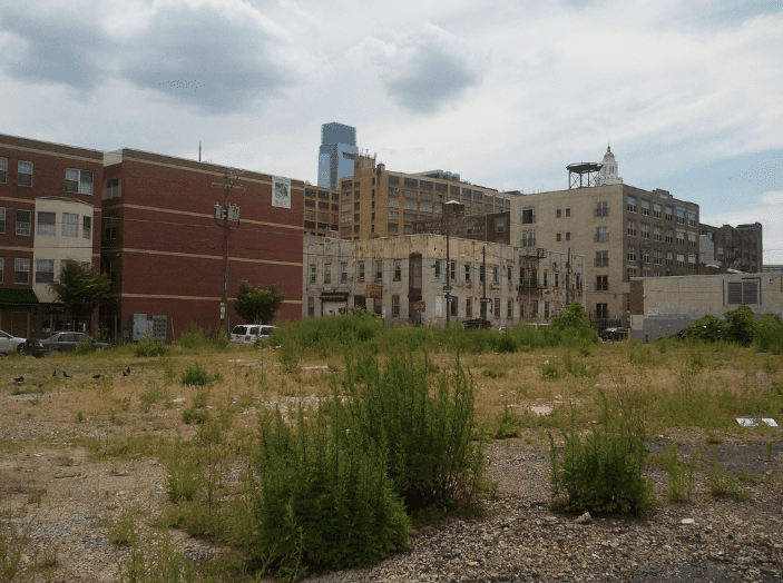 A large vacant lot in Philadelphia.