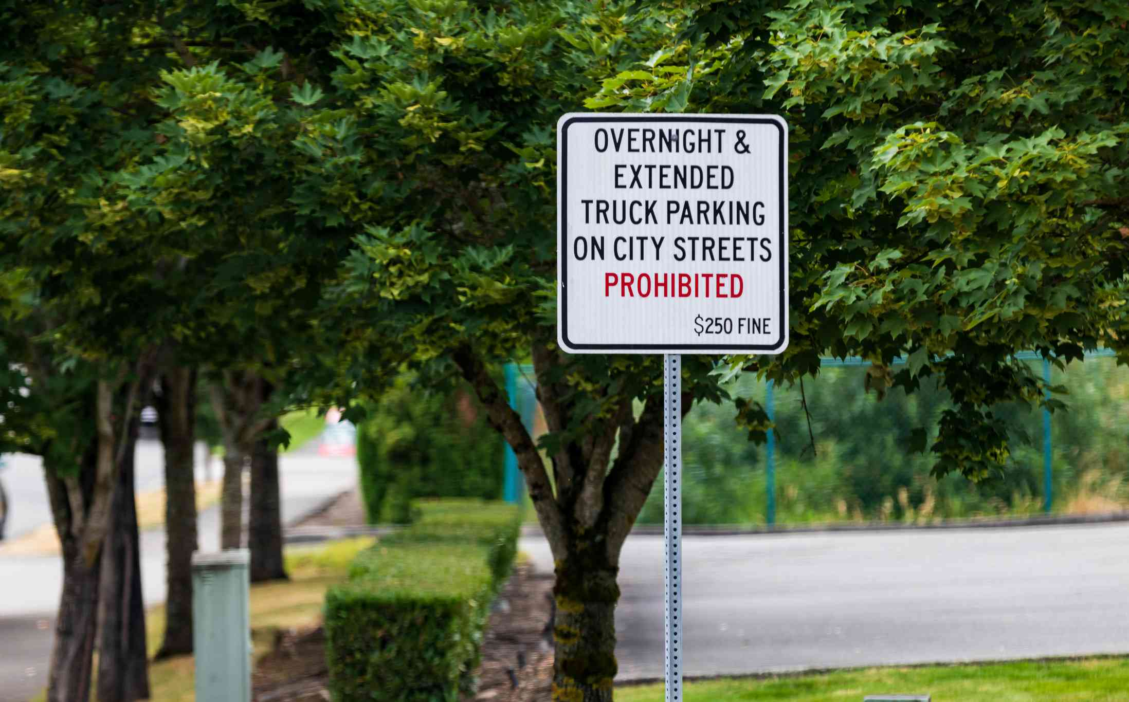 No overnight parking sign