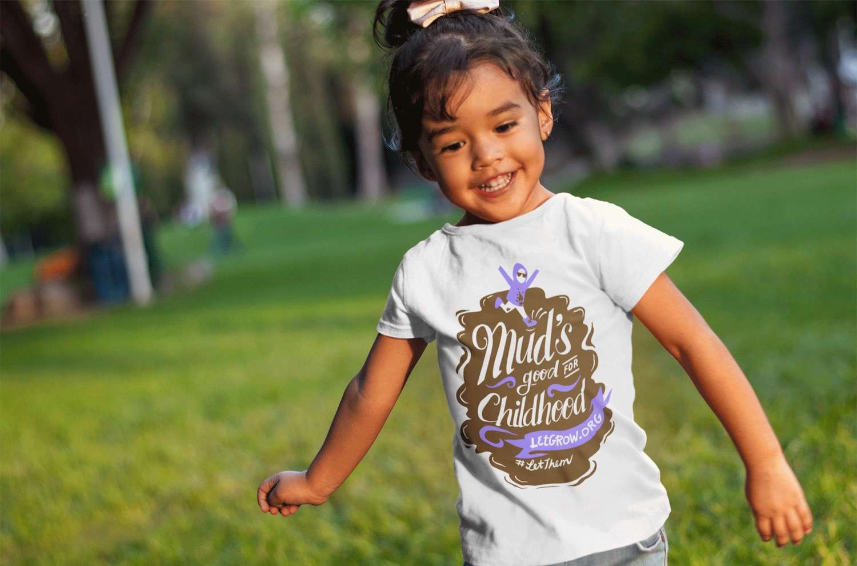 little girl running with tee