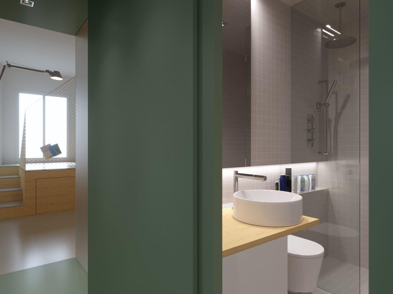 maison b micro-apartment POINT.ARCHITECTS bathroom