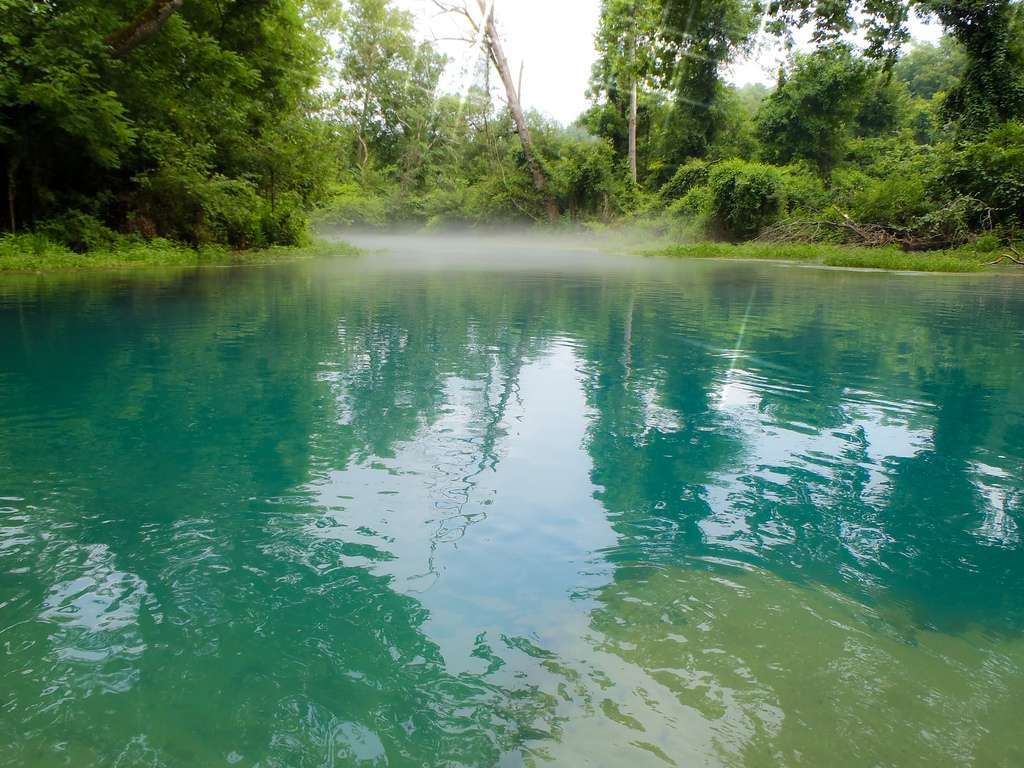 The greenish-blue waters of Eleven Point National Scenic River