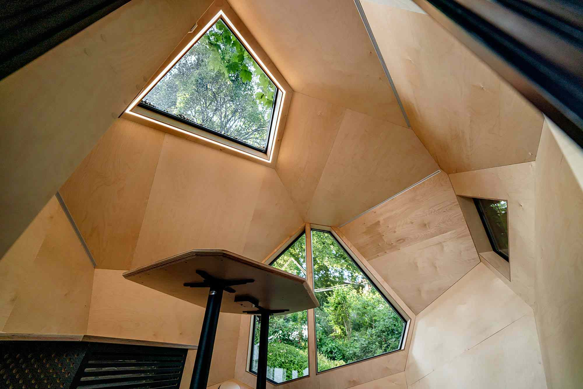 Workstation Cabin prefab home office module by Hello Wood windows
