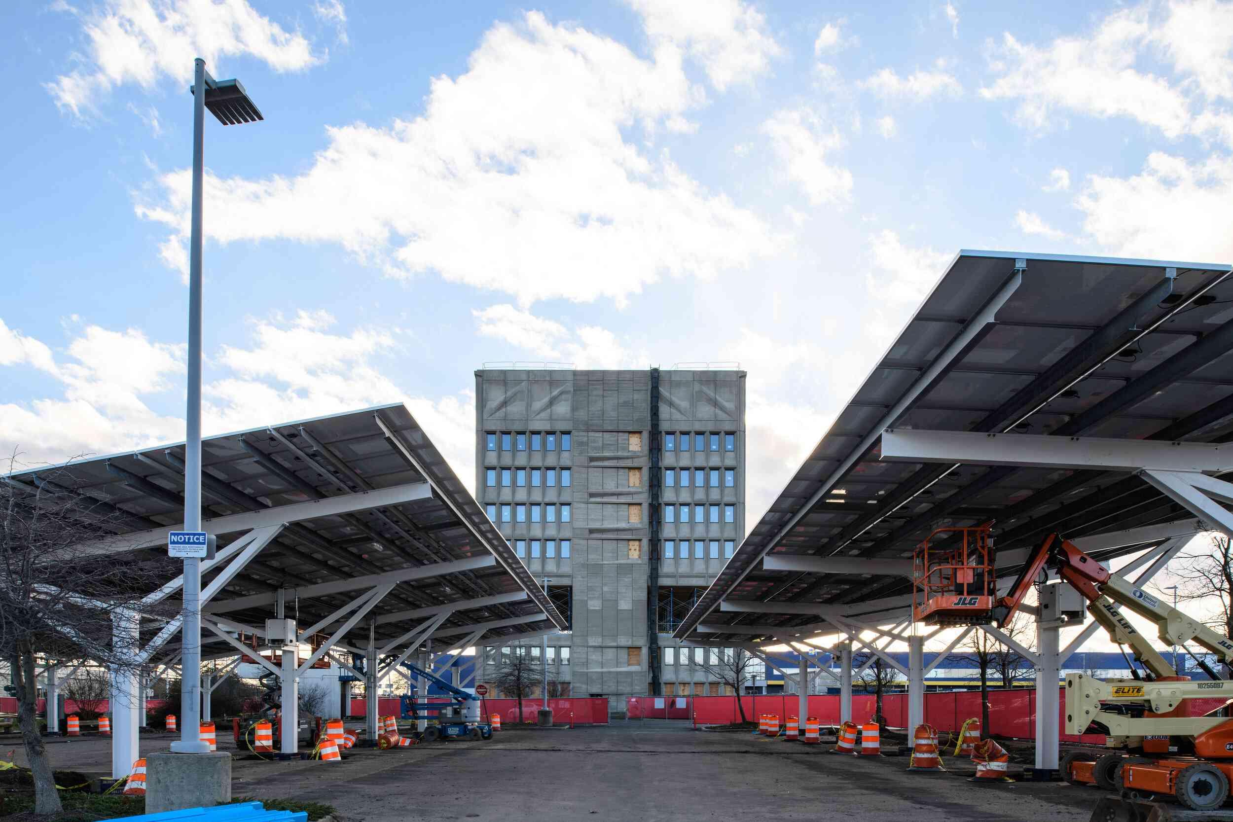solar panels on parking