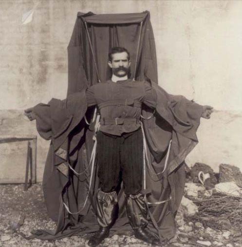 Black and white photo of Franz Reichelt