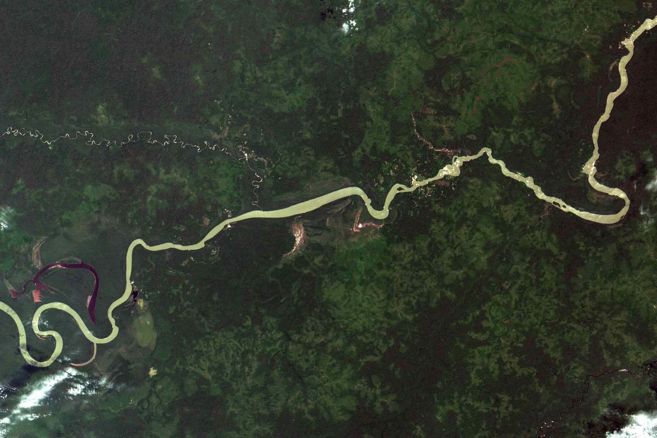 Satellite view of Amazon River